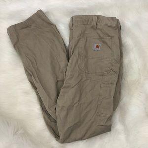 Carhartt Khaki Cargo Boot Cut Relaxed Fit Pants